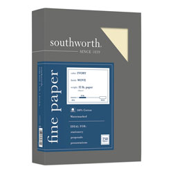 Southworth Business Paper, 8 1/2x11, 32 lb., Ivory, 250 Sheets/Box