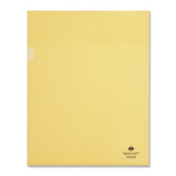 "Sparco Transparent File Holders, Water Resistant, 11"" x 8 1/2"" Yellow"