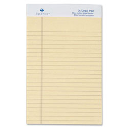 "Sparco Colored Pad, Jr. Legal Rule, 50 Sheets, 5""x8"", 12/Pack, Ivory"