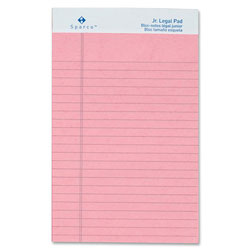 "Sparco Colored Pad, Jr. Legal Rule, 50 Sheets, 5""x8"", 12/Pack, Pink"
