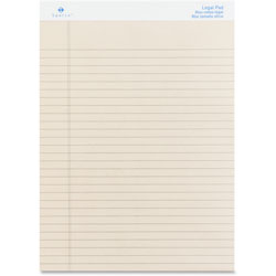 "Sparco Colored Pad, Legal Rule, 50 Sheets, 8-1/2""x11-3/4"",12/Pack, Ivory"