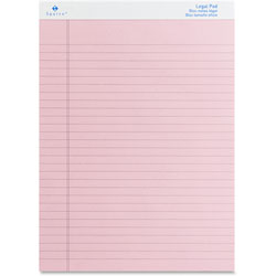 "Sparco Colored Pad, Legal Rule, 50 Sheets, 8-1/2"" x 11-3/4"" 12/Pack, Pink"