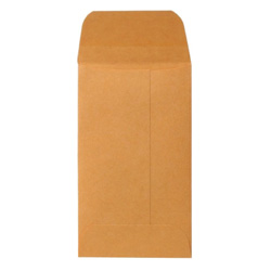 "Sparco Kraft Coin Envelope, Gummed, 20 lb., 2 1/2""x4 1/4"", Brown"