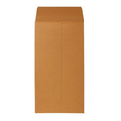 "Sparco Kraft Coin Envelope, Gummed, 28 lb., 3 1/2""x6 1/2"", Brown"