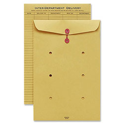 "Sparco Inter Department Envelope, String Closure, 10""x13"", Kraft"