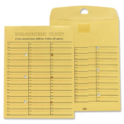 "Sparco Inter Department Envelope, Sub 28, 10""x13"", Kraft"