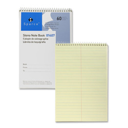 "Sparco Steno Notebook, Gregg Ruled, 60 Sheets, 6""x9"", Green"