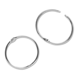 "Sparco Book Ring, 1"" Diameter, 100/BX, Silver"