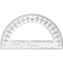 "Sparco Plastic Protractor, 6"" Long, Clear"