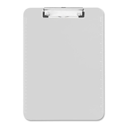 "Sparco Transparent Plastic Clipboard, Flat Clip, 9""x12"", Clear"
