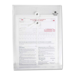"Sparco Inter Departmental Poly Envelope, Top Opening, 10""x13"", Clear"