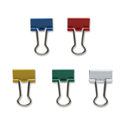 "Sparco Binder Clip, Mini, 9/16""Wide, 1/4"" Capacity, Assorted"