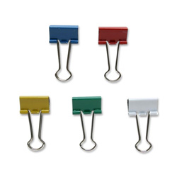 "Sparco Binder Clip, Small, 3/4""Wide, 3/8"" Capacity, Assorted"