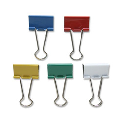 "Sparco Binder Clip, Medium, 1 1/4""Wide, 5/8"" Cap, Assorted"