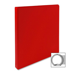 "Sparco 3 Ring Binder, 1/2"" Capacity, Red"