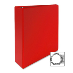 "Sparco 3 Ring Binder, 2"" Capacity, Red"