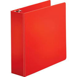 "Sparco 78% Recycled 3 Ring Binder, 3"" Capacity, Red"