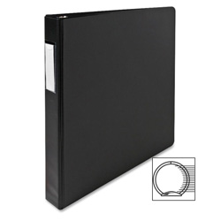 "Sparco 78% Recycled 3 Ring Binder, 1"" Capacity, Black"