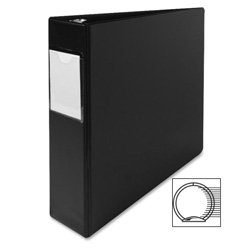 "Sparco 78% Recycled 3 Ring Binder, 2"" Capacity, Black"