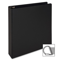 "Sparco 85% Recycled Slant Ring Binder, 1 1/2"" Capacity, Black"