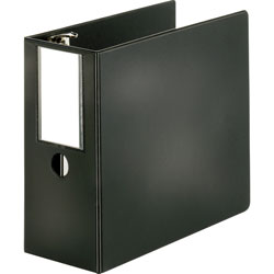 "Sparco 85% Recycled Slant Ring Binder, 5"" Capacity, Black"
