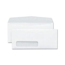 "Sparco Envelopes, Window, No 10, 4 1/8""x9 1/2"", White"