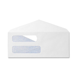 "Sparco Envelopes, Double Window, #8 5/8, 3-5/8""x8-5/8"", 500/Box, White"