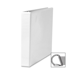 "Sparco Slant 1"" View Binder, White"