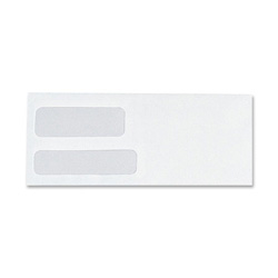 "Sparco Double Window Envelopes, #9, 3-7/8""x8-7/8"", 500/Box, White"