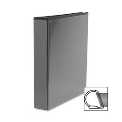 "Sparco Slant 1 1/2"" View Binder, Black"