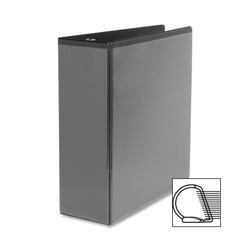 "Sparco Slant 4"" View Binder, Black"