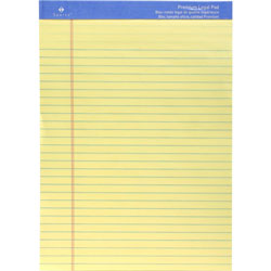"Sparco Perforated Legal Pad,50 Sheets,8 1/2""x11 3/4"", Canary"