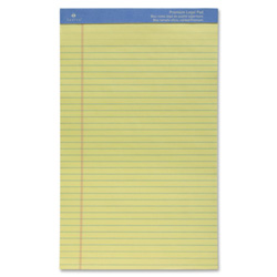 "Sparco Perforated Legal Pad,50 Sheets,8 1/2""x14"", Canary"