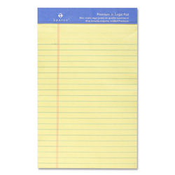 "Sparco Perforated Junior Legal Pad,50 Sheets,5""x8"", Canary"