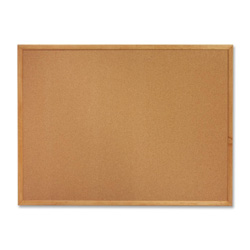 Sparco Cork Board, 3'x2', Wood Frame