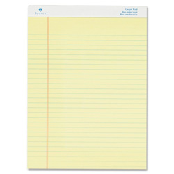 "Sparco Micro Perforated Legal Pad, 50 Sheets, 8-1/2""x11-3/4"", 12/Pack, CA"