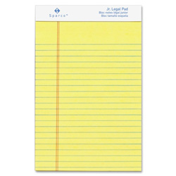 "Sparco Canary Micro Perforated Jr Legal Pad,50 Sheets,5""x8"",12/Pack"