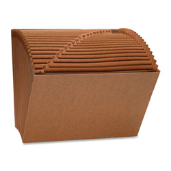 "Sparco Heavy-Duty Accordion Files without Flap 8.5"" x 11"" - Top Tab, Brown"
