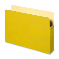 "Sparco Accordion Pocket, 3 1/2"" Exp, 11 3/4"" x 9 1/2"" 25 Ct, Yellow"