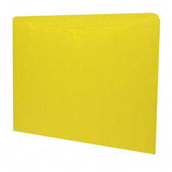 Sparco File Jacket, Letter Size, 11Pt, Reinforced Tabs, Flat, Yellow
