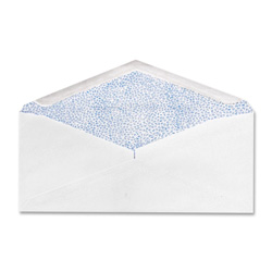 "Sparco Commercial Envelopes, Security Tint, 4-1/8""x9-1/2"", 500/BX, WE"