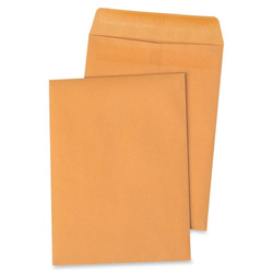 "Sparco Plain Kraft 28 lb. Self-Seal Catalog Envelopes, 9"" x 12"""