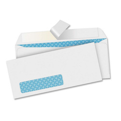 "Sparco White Number 10 Peel To Seal Envelopes with a Window, 4 1/2"" x 9 1/2"""