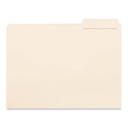 Sparco Interior Folders, 1/3 AST Tab Cut, Letter Size, 100/BX, MLA