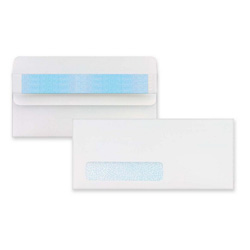 "Sparco White Number 10 Invoice Envelopes with Standard Window, 4 1/2"" x 9 1/2"""