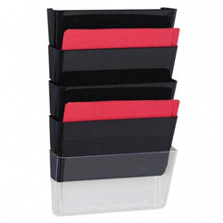 "Sparco Vertical File System, 3 Count, 13""x4""x14 7/8"", Black"