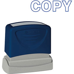 "Sparco COPY Title Stamp, 1 3/4""x5/8"", Blue Ink"