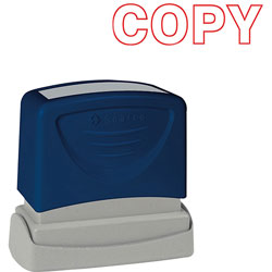 "Sparco COPY Title Stamp, 1 3/4""x5/8"", Red Ink"