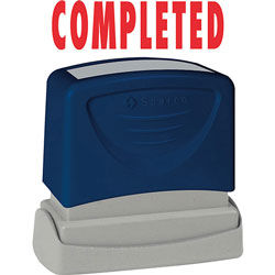 "Sparco COMPLETED Title Stamp, 1 3/4""x5/8"", Red Ink"