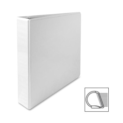 "Sparco Slant 1 1/2"" View Binder, White"